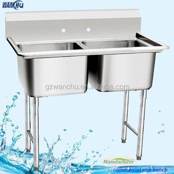 Restaurant Stainless Steel Sink : ... Restaurant Kitchen Stainless Steel Double Sink/Double Sinks/Sink