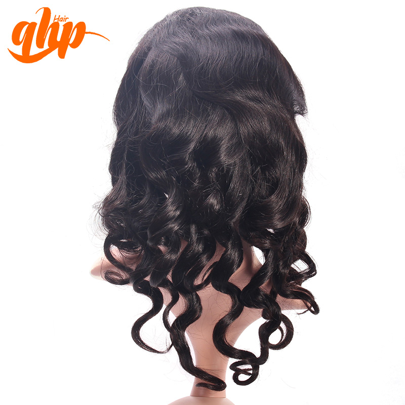 QHP 100 brazilian / indian virgin hair silk top full lace extension wigs