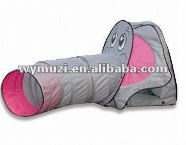 kids play elephant patern pop up tent with tunnel