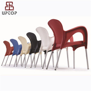 Outdoor furniture stackable colored polypropylene arm plastic chair(SP-UC254)