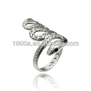 2013 Sterling Silver Snake Ring, Animal Shaped Ring