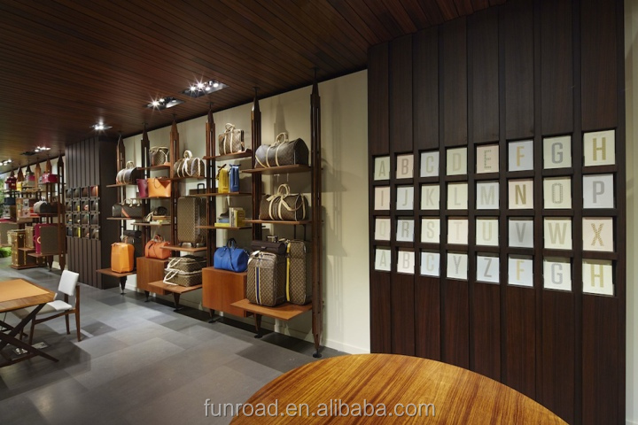 Antique High End Wooden Shoe Retail Showroom With Display Rack Shelves Furniture Stores