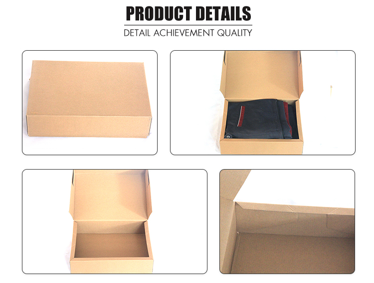 Recyclable blank kraft boxes corrugated cardboard box for clothes t shirt box