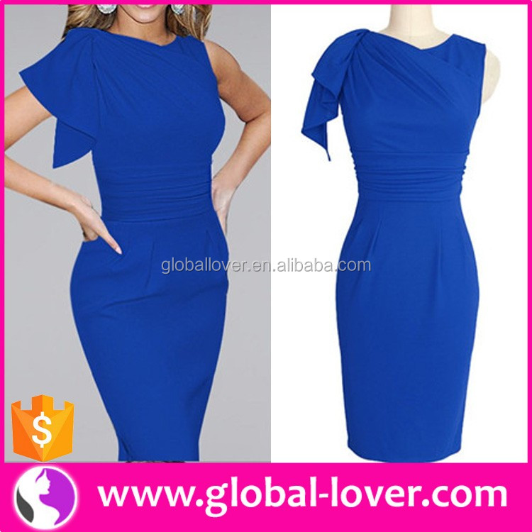 Ladies Office Uniform 2016 Work Wear Plus Size Career Dress