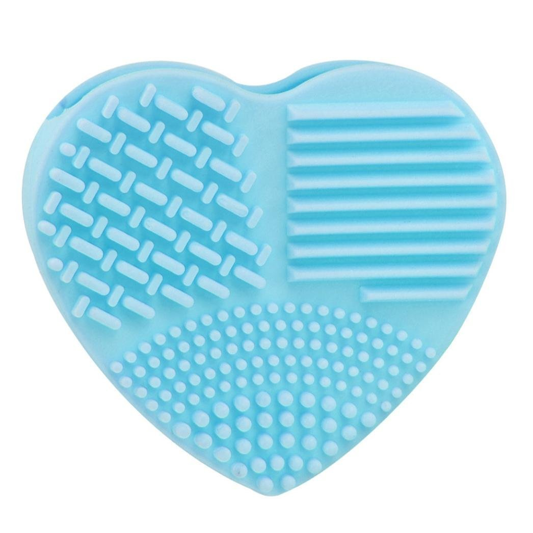 Binmer(TM) Silicone Fashion Egg Cleaning Glove Makeup Washing Brush Scrubber Tool Cleaners (Sky Blue)