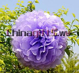 """Tissue Paper Pom Lantern Flowers Wedding Party Decoration 6"""",8"""",10"""",12"""",14"""",15"""" colors:light purple lots quntity:6pcs size:8"""" 20cm"""