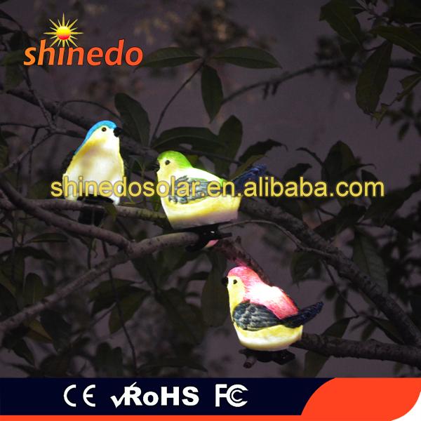 Portable Branch Decorative Small Bird Solar Led Garden Light