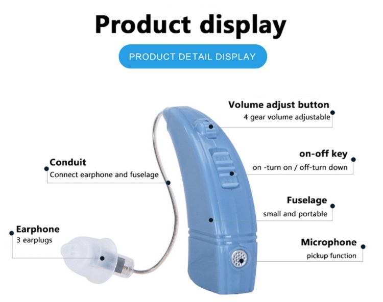Hot selling adjustable voice sound amplifier hearing aids
