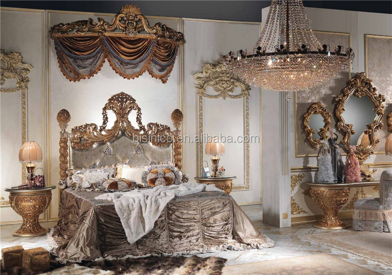 World Treasure Italian Antique Fashional Bedroom FurnitureOrnate