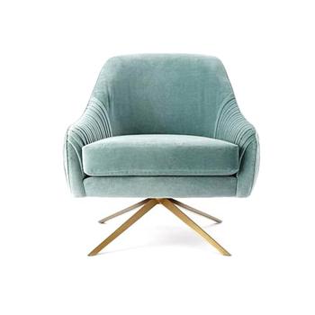 Velvet Swivel Chair Sofa Furniture