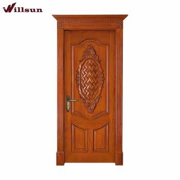 Popular Entrance door Luxury Teak Wood Main Door Design