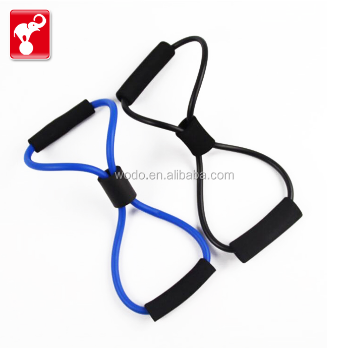 OEM factory custom made latex 8 shape training rubber band resistance loop exercise bands