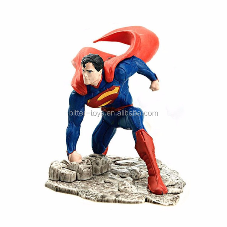 OEM Donguan factory plastic PVC figure, Superman figure toy, superhero action figure factory manufacture