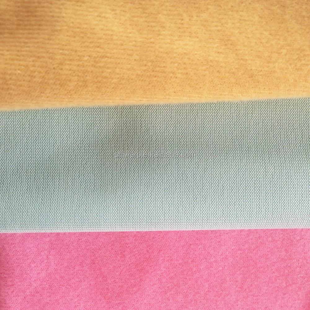 tricot cepillado tela polister tejido de punto para muebles sof