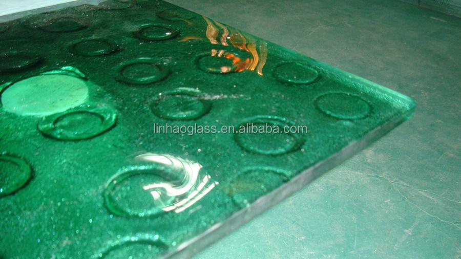 Slumped Art Glass Table Top