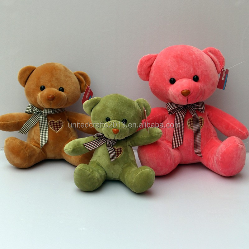 Hot sale! Small type food teddy bear plush toys with tie