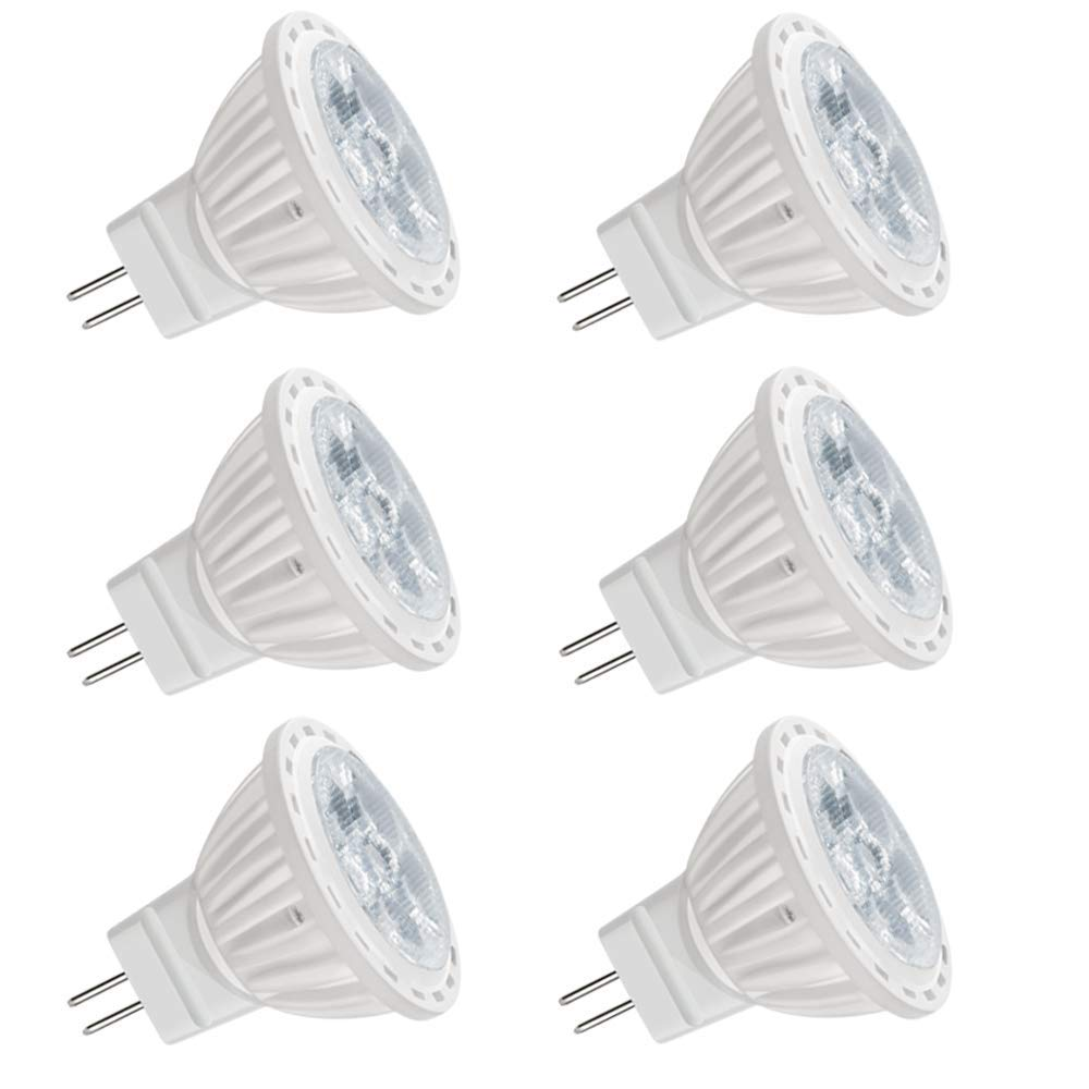 MR11 GU4.0 LED Bulbs, GU4 Base,12V AC/DC Light Bulb, 4 Watt (35W Halogen Bulbs Equivalent), Warm White 3000K (Pack of 6) …