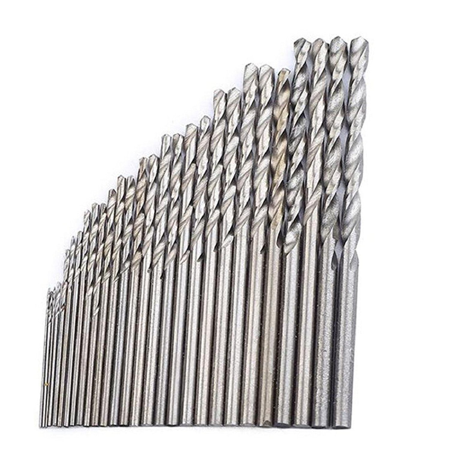 Naladoo Micro HSS Twist Drilling Bit Straight Shank Electrical Drill Tool,28 Pcs Mini Drill HSS Bit 0.3mm-3.0mm Straight Shank Pcb Twist Drill Bits Set