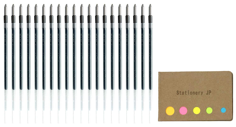 Uni-ball SXR-80-10 Jetstream Ballpoint Multi Pen Refill, 1.0 mm, Black Ink, 20-pack, Sticky Notes Value Set