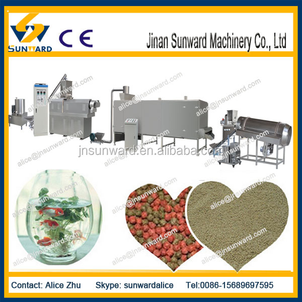 Hot sales automatic floating fish feed making machine