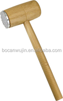 One selling Wooden and metal aluminum meat hammer,meat tenderize