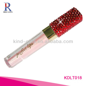 bling rhinestone lip gloss tube