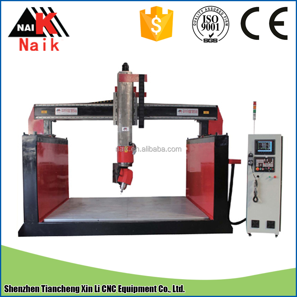multifunction five axis cnc woodworking machine/5 axis 4 head cnc woodworking machine