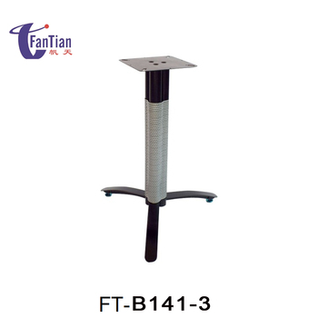 2017 hot sale outdoor black metal pedestal trestle cast iron table base table levelers lowes