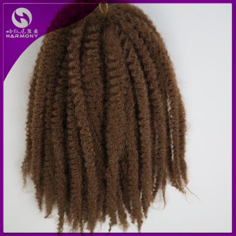 Harmony Stock 20inch Burgundy Toyokalon Synthetic Marley Braid Afro Curl Hair Twist