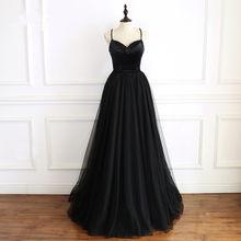 JaneVini сексуальные женские черные платья для выпускного бала, Beadings, вельветовое платье на бретельках из тюля для подружки невесты, свадебное ...(Китай)