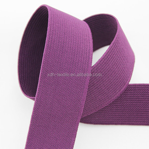 Factory supply cheap polyester knitted elastic webbing tape made in china