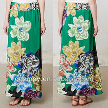 Ladies long maxi skirt of latest skirt design pictures