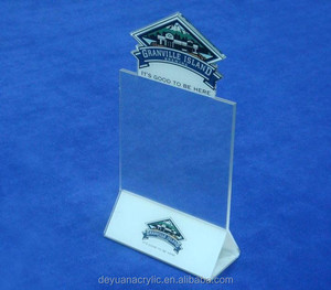 Hot Sell Table Top Acrylic Menu Holder/ Acrylic Menu Stand/ Lucite Table Tent