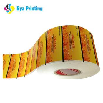 Customized waterproof reusable adhesive label roll printed direct thermal label