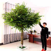 Popular artificial trees branches and leaves artificial oak trees for decoration