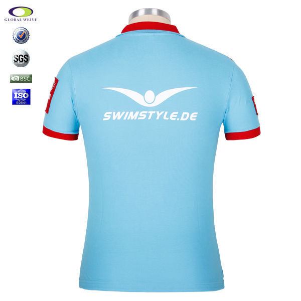 product detail custom embroider polo t shirt with my company logo
