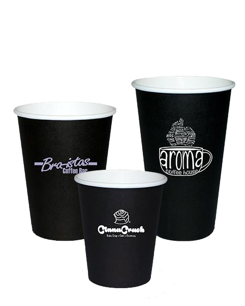 Any size custom coloured disposable paper coffee cups