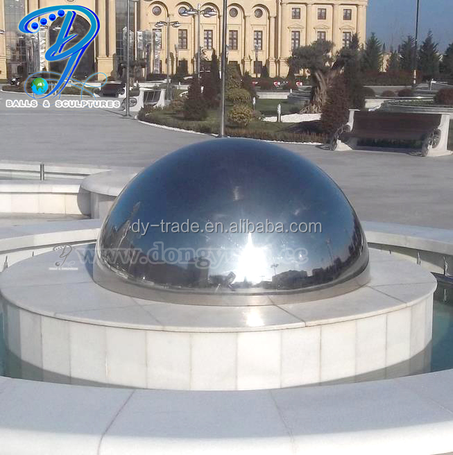 Stainless Steel Garden Decorative Half Ball Supplies 200mm with 3mm Thickness