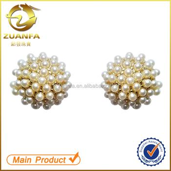 Latest Design Of Pearl Earrings Pearl Stud Earrings Gold Pearl