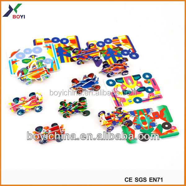 Motor-racing model 3d boys puzzle games intelligence toys puzzle games