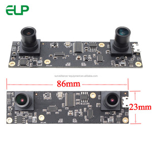 ELP OEM Full HD 2MP USB2.0 Aptina AR0330 Color CMOS Sensor 1080P dual lens USB Camera for people counting system