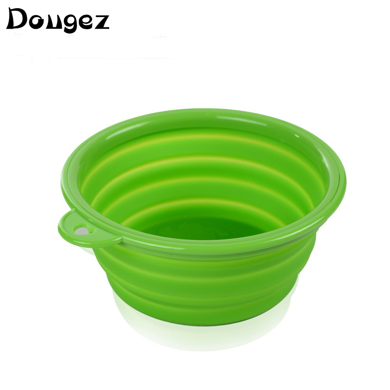 High quality silicone traveling Plastic folding bowl  portable collapsible dog pet bowl