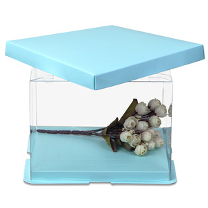 Clear Plastic Box for Weddings/Party favors/Packaging Treat Cupcake Transparent Packing Box