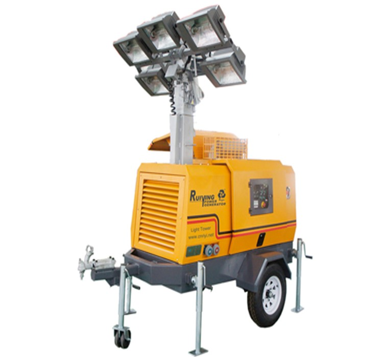 Light Tower Specifications: Light Tower 8kw Trailer Type Diesel Generator With 4