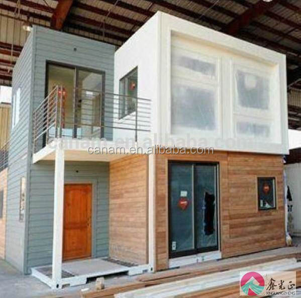 CANAM-Modern log prefabricated light steel villa house plastic for sale