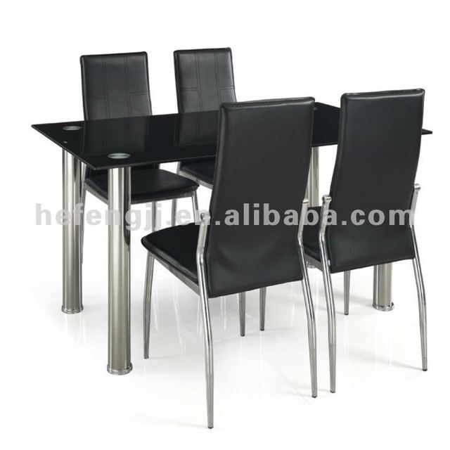 metal glass dining sets