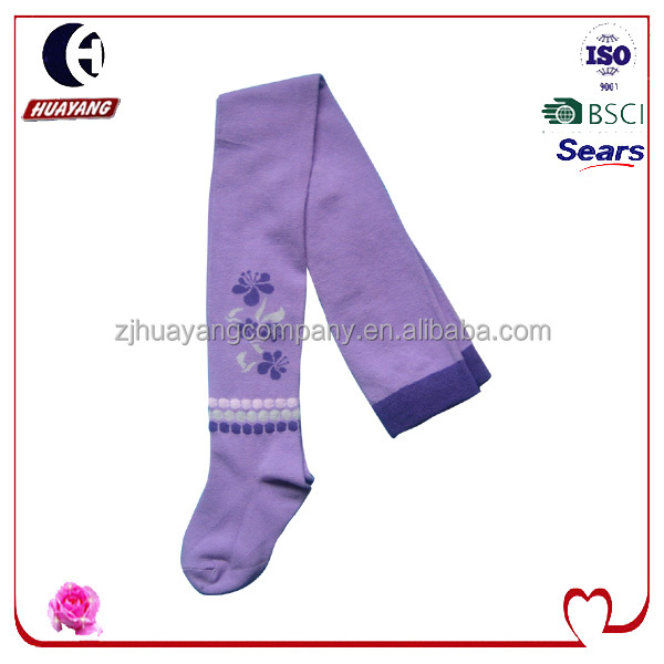 pretty girls 100%cotton purple tights