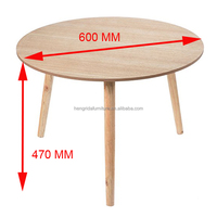 big natural scandinavian solid birch wood end table