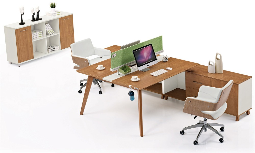 administrative personnel t shaped 2 person office desk office