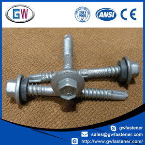 Hot Selling 12-14 Drill tek roofing cladding screw